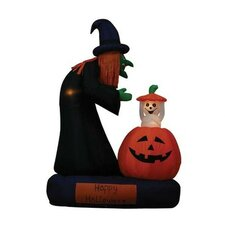 6' Halloween Inflatable Animated Witch