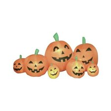 7.5' Long Halloween Inflatable Pumpkins