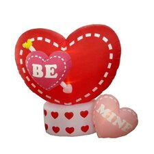 6' - 8' Valentine's Day Inflatable Animated Hearts