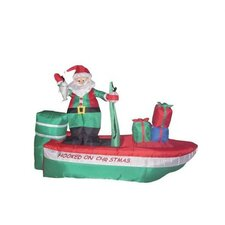 8' Long Christmas Inflatable Santa Claus Fishing