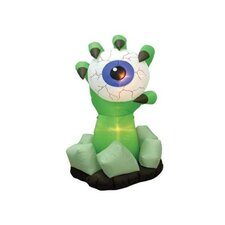 Halloween Inflatable Monster Hand with Eyeball Decoration