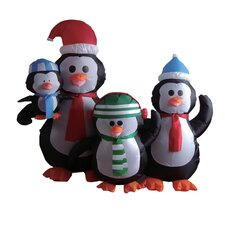 5 Foot Penguin Family Inflatable