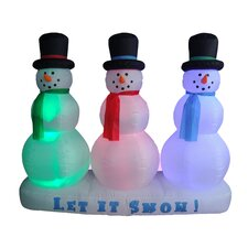 <strong>BZB Goods</strong> Christmas Inflatable Snowmen Lightshow