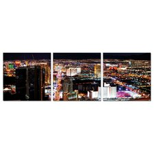 City View at Night Modern 3 Piece Photographic Print