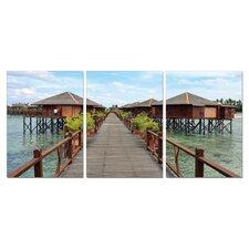 Long Vacation Modern 3 Piece Photographic Print