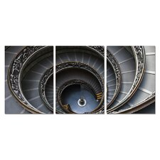 Spiral Stairway Modern 3 Piece Photographic Print