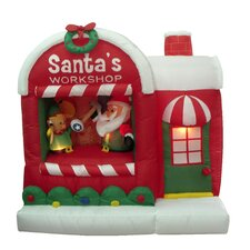 Christmas Inflatable Santa Workshop Decoration