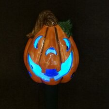 <strong>BZB Goods</strong> Pumpkin Ceramic Solar Powered Changing LED Light