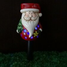Santa Claus Ceramic Solar Powered Changing LED Light