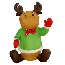 Christmas Inflatable Sitting Reindeer Decoration