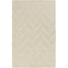 Central Park Ivory Chevron Carrie Area Rug