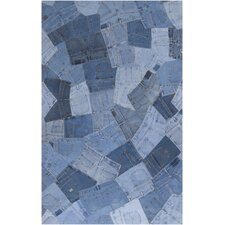 Coso Denim Patchwork Seats Rug
