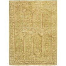 Mersin Design Green, Hand-Knotted Rug