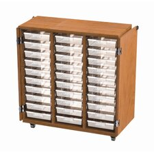 30 Tote Casters Storage Unit