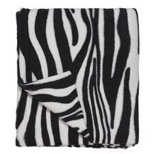 Wild Zebra Polyester Coral Fleece Throw