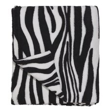 Wild Zebra Polyester Coral Fleece Throw
