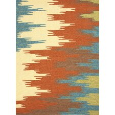 Colours I-O Rust Abstract Indoor/Outdoor Area Rug