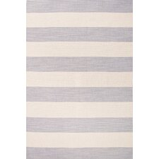 Pura Vida Gray/Ivory Stripe Area Rug