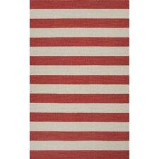 Pura Vida Red/Ivory Stripe Rug