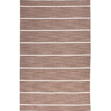 Coastal Living(R) Dhurries Brown Stripe Rug