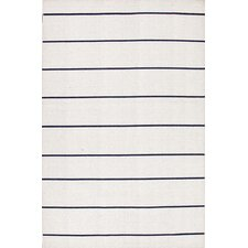 Coastal Living(R) Dhurries Ice Stripe Rug