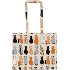 Cats in Waiting PVC Shoulder Gusset Bag