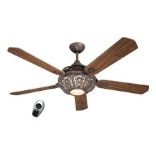 Santa Pepeo Ceiling Fan in Rust Brown with Remote