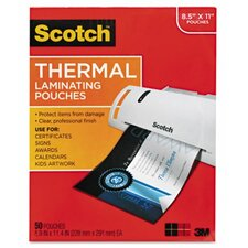 Scotch Letter Size Thermal Laminating Pouches,