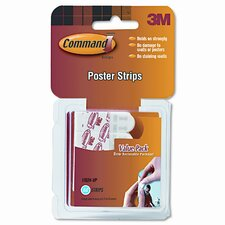 Command Poster Adhesive Strip Value Pack, White, 48 Strips per Pack