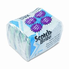Scotch-Brite Power Sponge, Teal, 5/pack