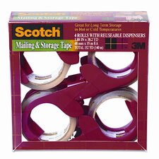 Scotch Moving and Storage Tape, 4 Rolls/Pack