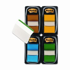 "Flags/Tabs Value Pack, Assorted Colors, 200 1"" Flags, 12 Filing Tabs/Pk"