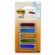 Arrow Flags, Blue/Green/Orange/Red/Yellow, 20 per Color, 100 per Pack
