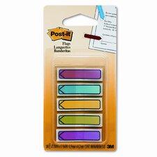 Arrow Flags, Five Assorted Bright Colors, 20 per Color, 100 per Pack