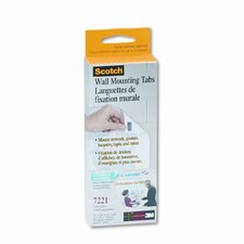 Precut Removable Mounting Tabs, Double-Sided, 1/2 x 3/4, 144/pack