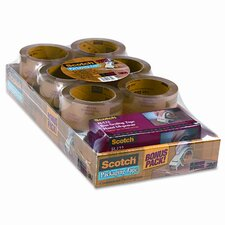 Scotch 3750 Commercial Performance Packaging Tape, 12 Pack