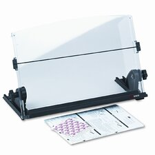 In-Line Adjustable Desktop Copyholder, Plastic, 150 Sheet Capacity