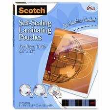 Self-Sealing Laminating Sheets, 9.6 mils, 8-1/2 x 11, 25/Pk