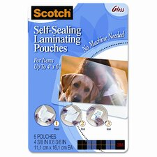 Scotch Self-Sealing Laminating Pouches, 5/Pack