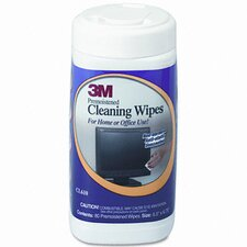 Electronic Equipment Cleaning Wipes, 80/Canister