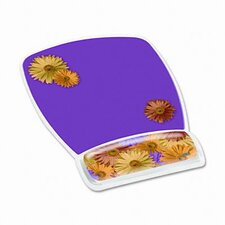 Gel Mouse Pad with Wrist Rest, Daisy Design