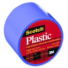 "Colored Plastic Tape, 1-1/2""x125"", 6 RL/BX, Blue"