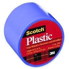 "Colored Plastic Tape, 1-1/2""x125"", 6 RL/BX, Blue"
