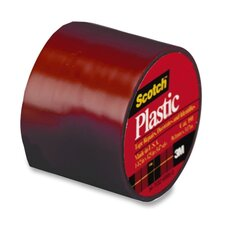 "Colored Plastic Tape, 1-1/2""x125"", 6 RL/BX, Red"
