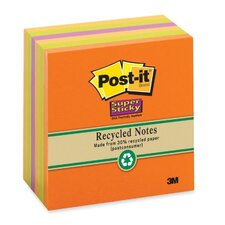 "<strong>3M</strong> Super Sticky Pads,90 Sheets/PK,3""x3"",6/PK,Natures Hues"
