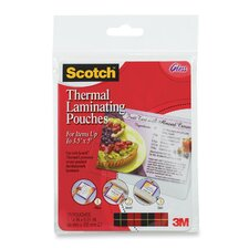"<strong>3M</strong> Laminating Pouch, Index Card, 3-1/2""x5-1/2"", 20/PK, CL"