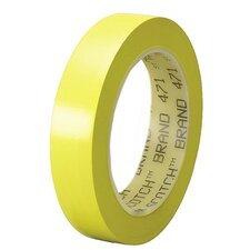 "Marking Tape, Vinyl, 1"" x 108', Yellow"