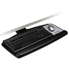 Keyboard Tray, Height/Tilt Indicators, Black