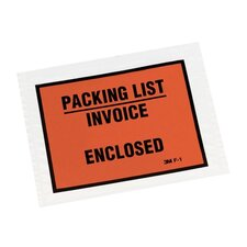 "Packing List Envelope, Back-loading, 5-1/2""x4-1/2"", Orange"