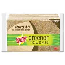 <strong>3M</strong> Scotch-Brite Greener Clean Non-Scratch Scrub Sponge, 3/Pack